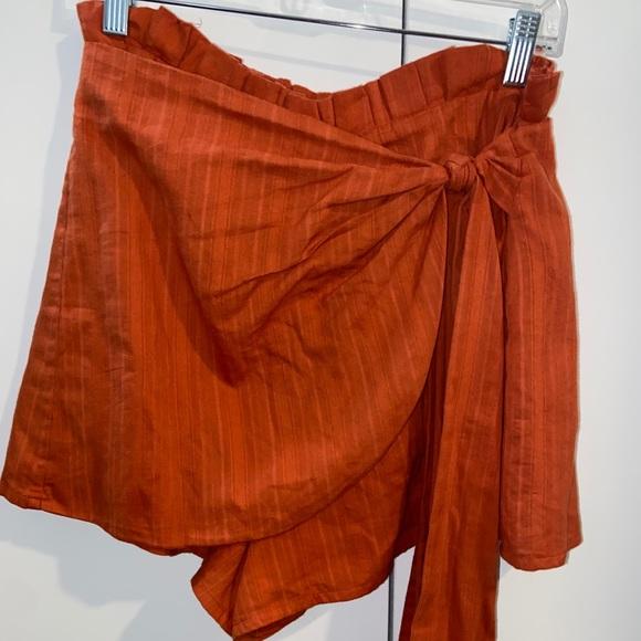 MAJORELLE Linette Skort in Rust Orange (size M)